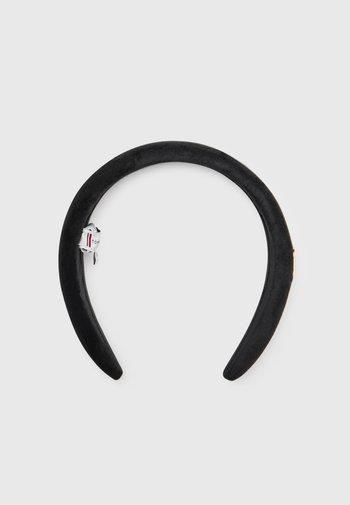 ELEVATED HEADBAND VELVET - Hair styling accessory - black