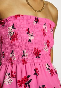 Who What Wear - SMOCKED STRAPLESS - Blouse - blossom pink - 5