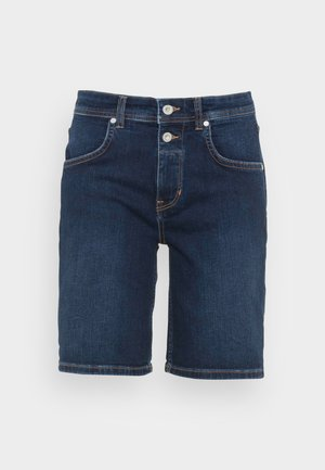 DENIM SHORTS RELAXED THEDA FIT REGULAR WAIST MID LENGTH - Jeans Shorts - dark commercial wash