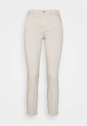 ALBA CROPPED PANTS - Trousers - feather gray
