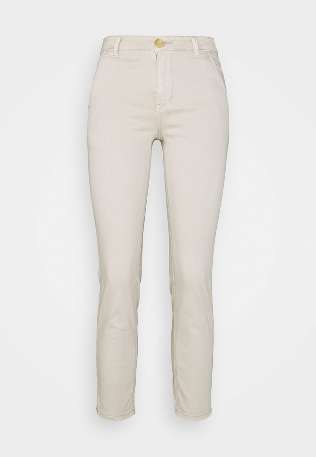 ALBA CROPPED PANTS - Bukse - feather gray