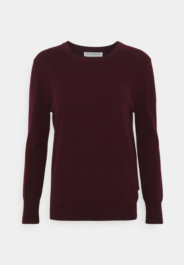 CLASSIC CREW NECK  - Trui - burgundy
