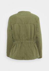 Marks & Spencer London - WAISTED - Denim jacket - khaki - 1