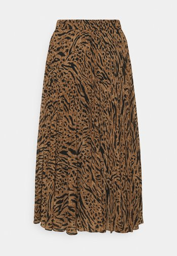 HARPER PLEATED  - Falda plisada - brown