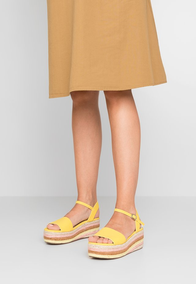 KORRA - Platform sandals - yellow