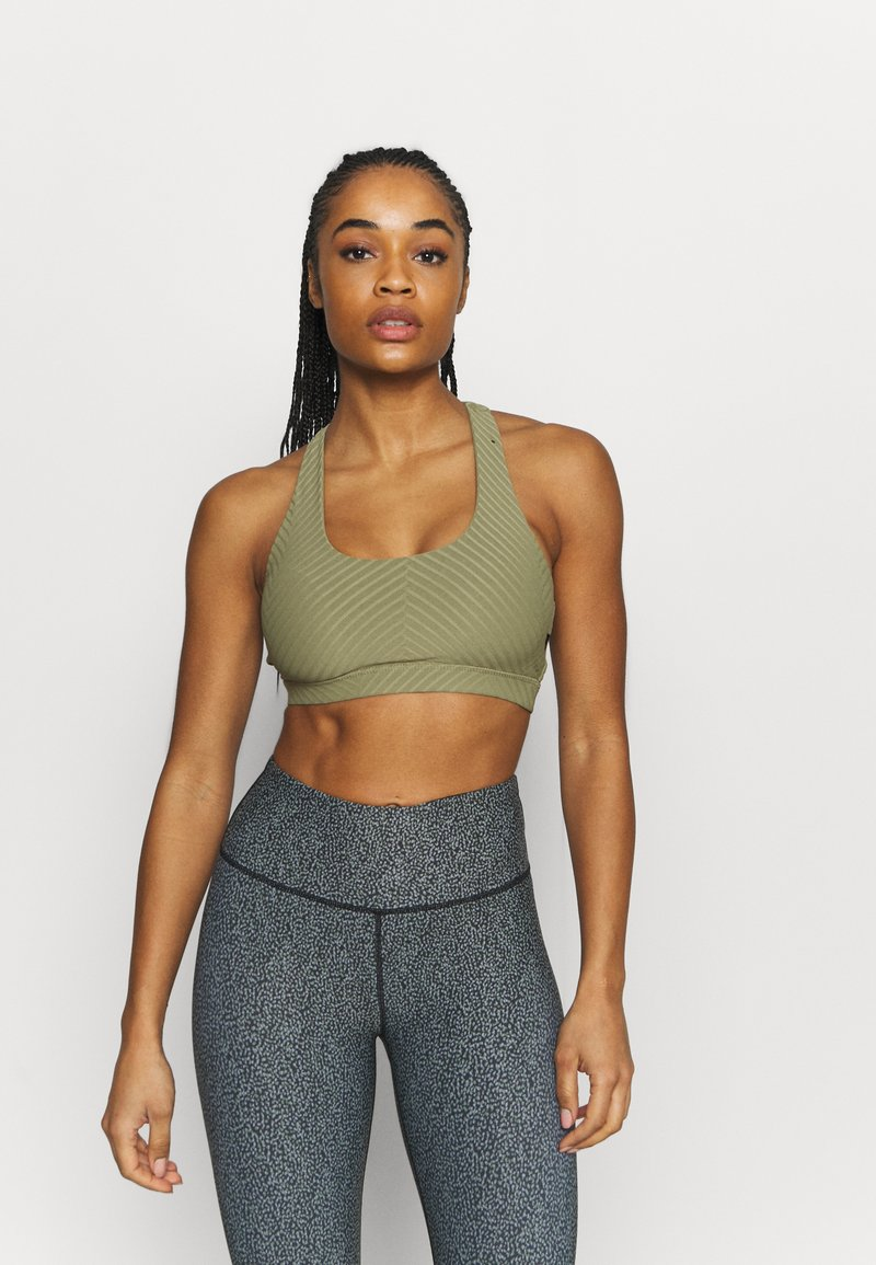 Cotton On Body - WORKOUT CUT OUT CROP - Light support sports bra - oregano