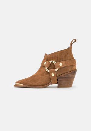 N'DRICKS - Cowboy/biker ankle boot - tan