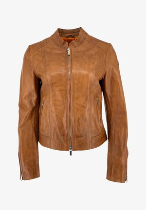 Leather jacket - cognac