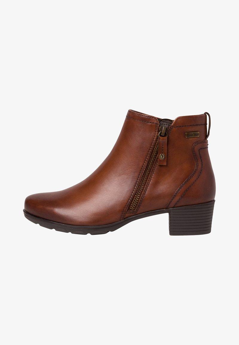 Jana - STIEFELETTE - Ankle boots - hazelnut