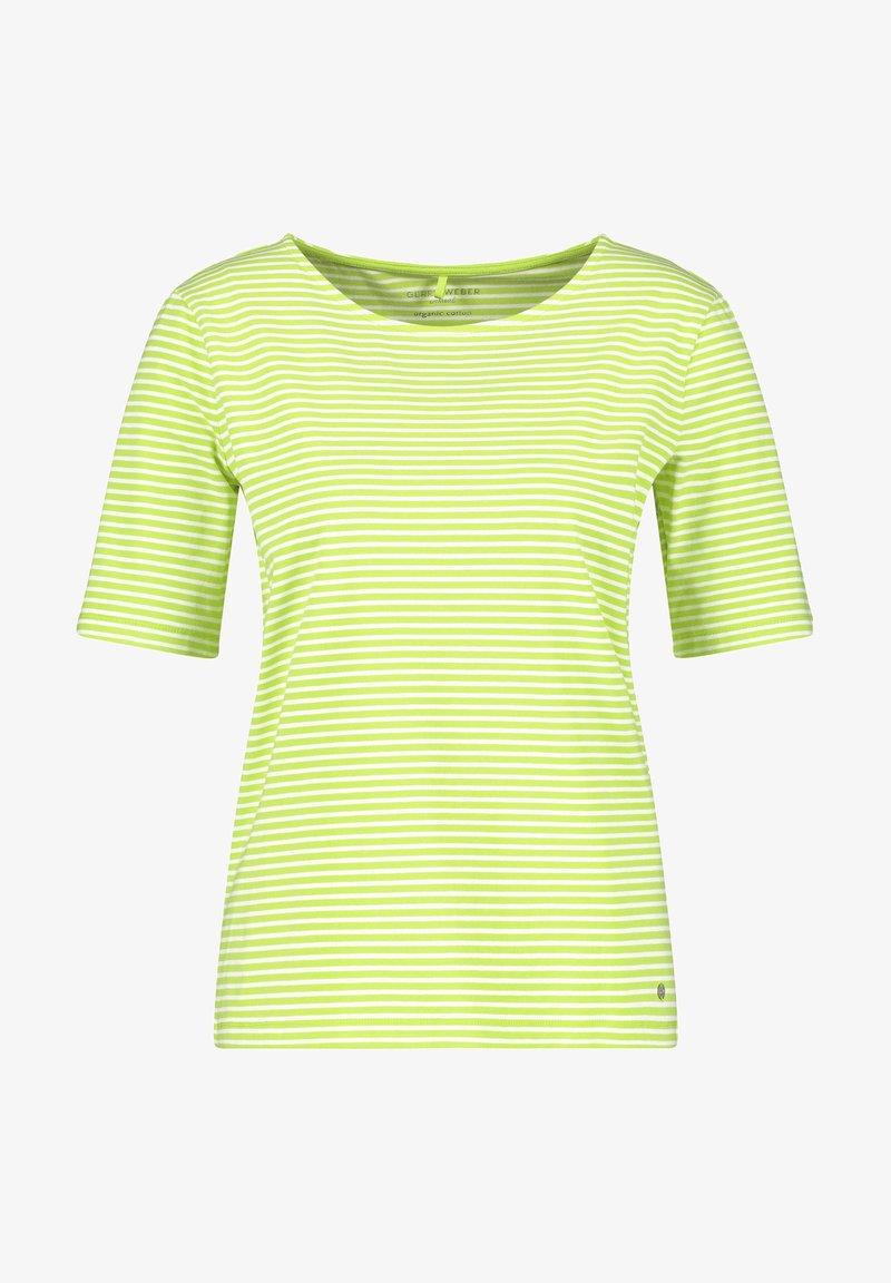 Gerry Weber - Print T-shirt - ecru/weiss/grün ringel