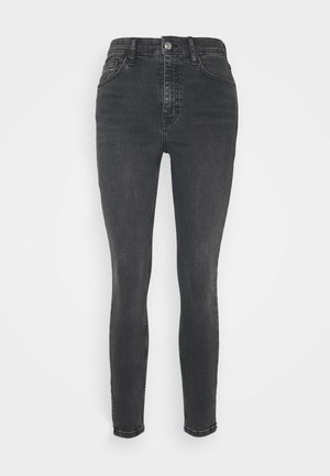WASHED BLACK ZIP HEM JAMIE - Skinny džíny - washed black
