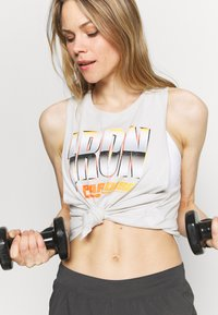Under Armour - PROJECT ROCK IRON TANK - Top - summit white - 3