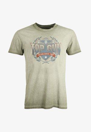 MIT AUFDRUCK - T-shirt print - olive