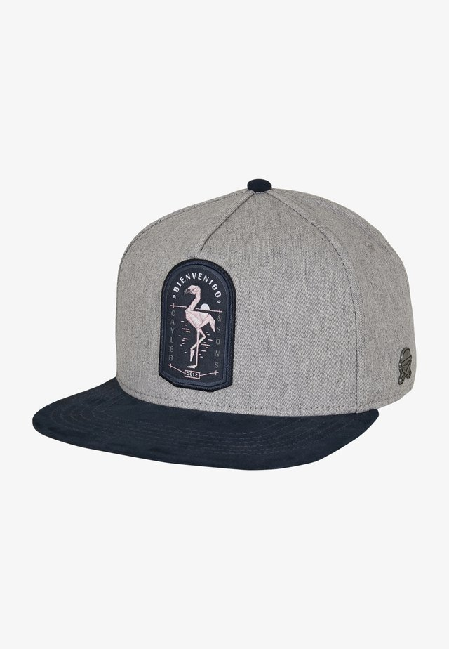 Cap - grey heather/navy