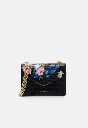 BEKS SANDALWOOD IMITATION CROC ENVELOPE XBODY BAG - Umhängetasche - black