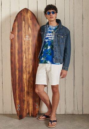 Camiseta estampada - brush palm blue