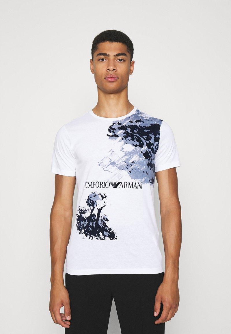 Emporio Armani - Print T-shirt - bianco