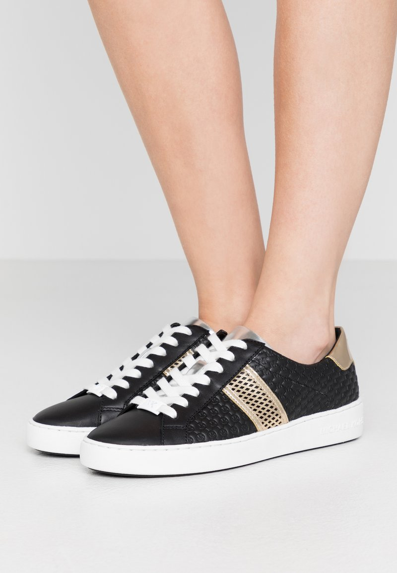 MICHAEL Michael Kors - IRVING STRIPE LACE UP - Trainers - black