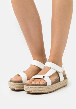 KYRA - Platform sandals - white