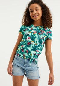 WE Fashion - JUNGLEDESSIN - Print T-shirt - green - 1