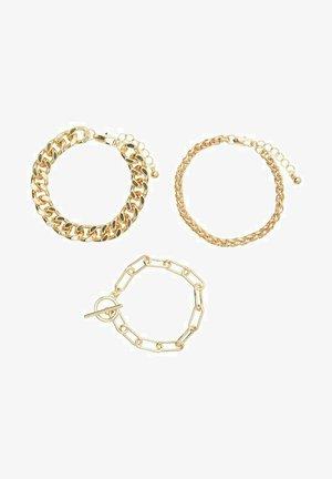 3 PACK - Bracelet - gold colour