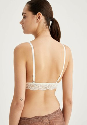 BRALETTE - Triangle bra - white