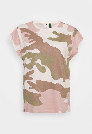 GSRAW GYRE KNOT R T WMN CAP SL - Camiseta estampada - khaki