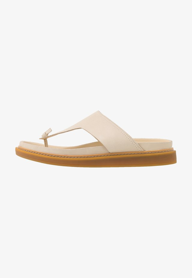 TRACE SHORE - T-bar sandals - cream