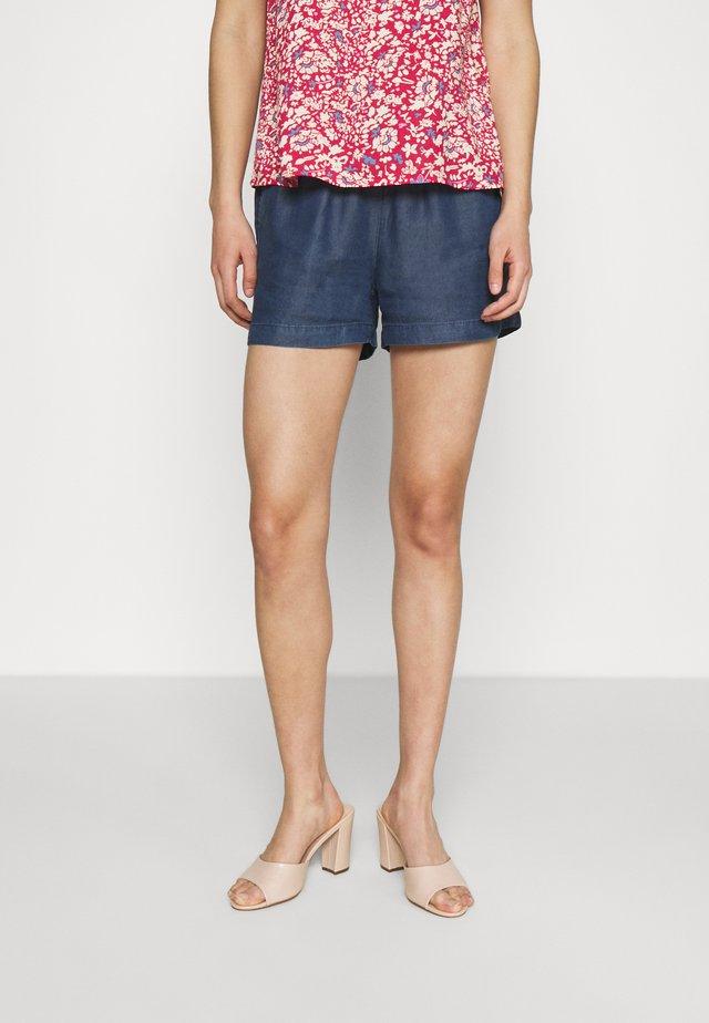 ONLPEMA LIFE - Shorts - dark blue denim