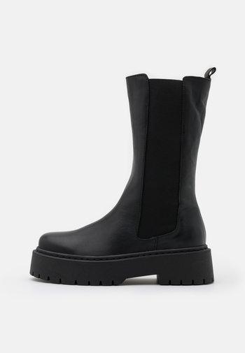 BIADEB LONG BOOT - Platform boots - black
