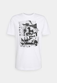 Jordan - BRAND CREW - Printtipaita - white/black - 0