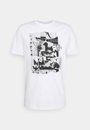 BRAND CREW - Printtipaita - white/black