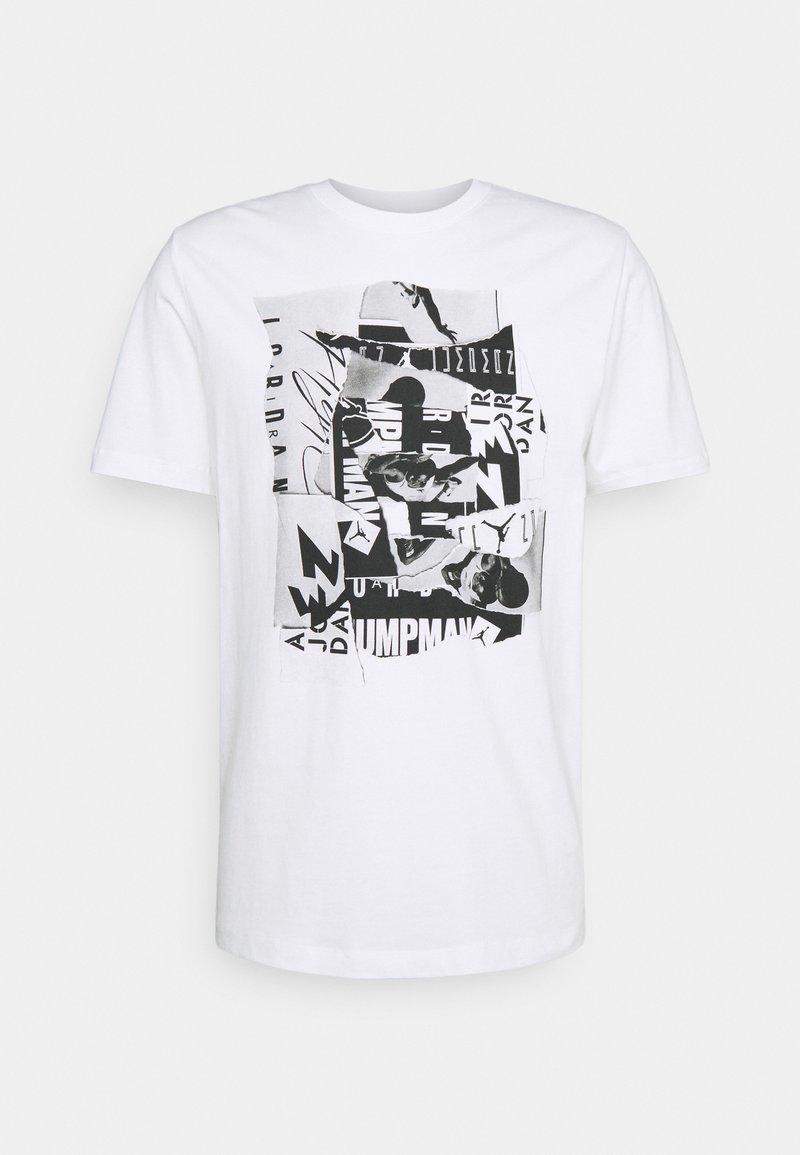 Jordan - BRAND CREW - Printtipaita - white/black