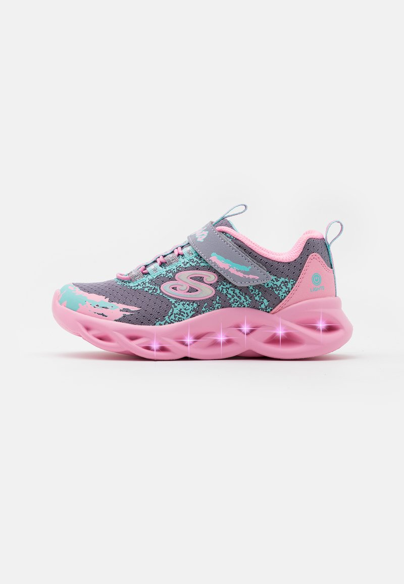 Skechers - TWISTY BRIGHTS - Tenisky - gray/pink