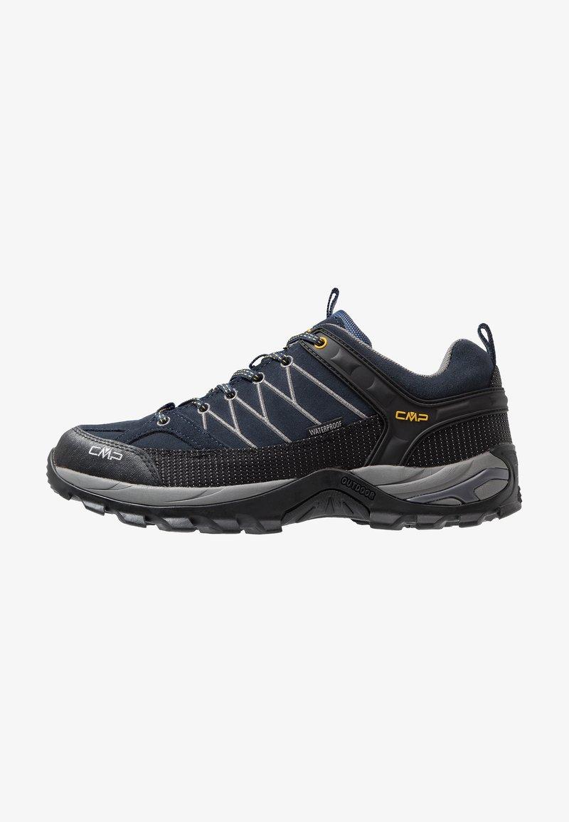 CMP - RIGEL LOW TREKKING SHOES WP - Hiking shoes - blue/graffite