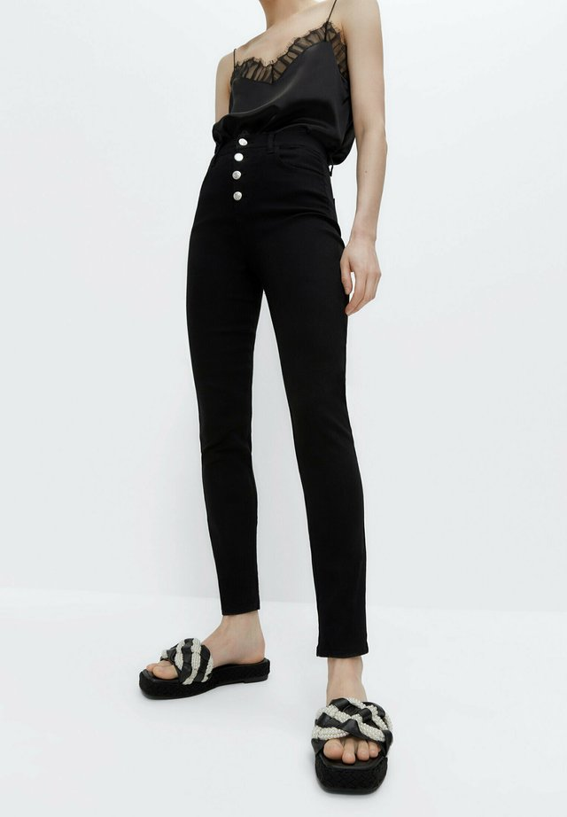 MIT HOHEM BUND 00110651 - Skinny džíny - black
