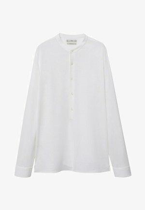 REGULAR FIT MIT MAO-KRAGEN AUS - Shirt - weiß