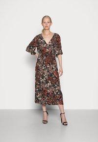 Esprit Collection - FLOWER DRESS - Shirt dress - black - 0