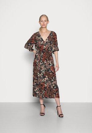 FLOWER DRESS - Shirt dress - black