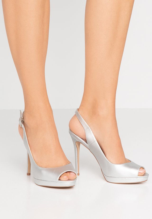 DALLAS - Peeptoe heels - metallic