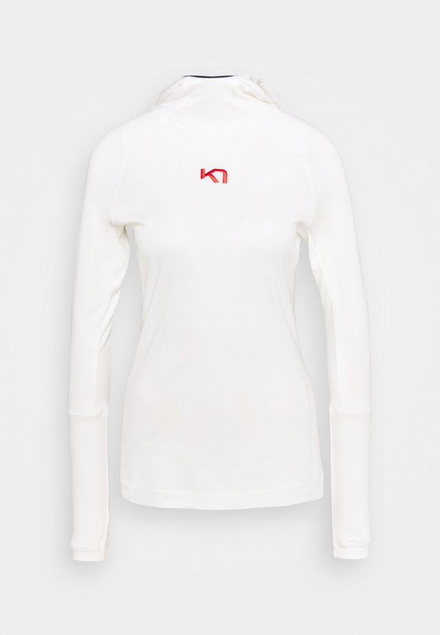 RULLE HOOD - Sportshirt - white
