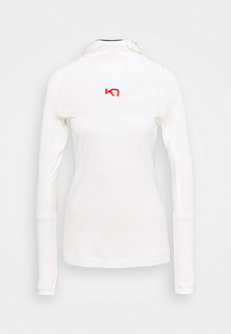 Kari Traa - RULLE HOOD - Sportshirt - white