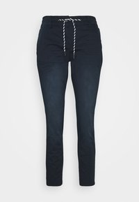 TOM TAILOR - TAPERED RELAXED - Trousers - dark blue - 3