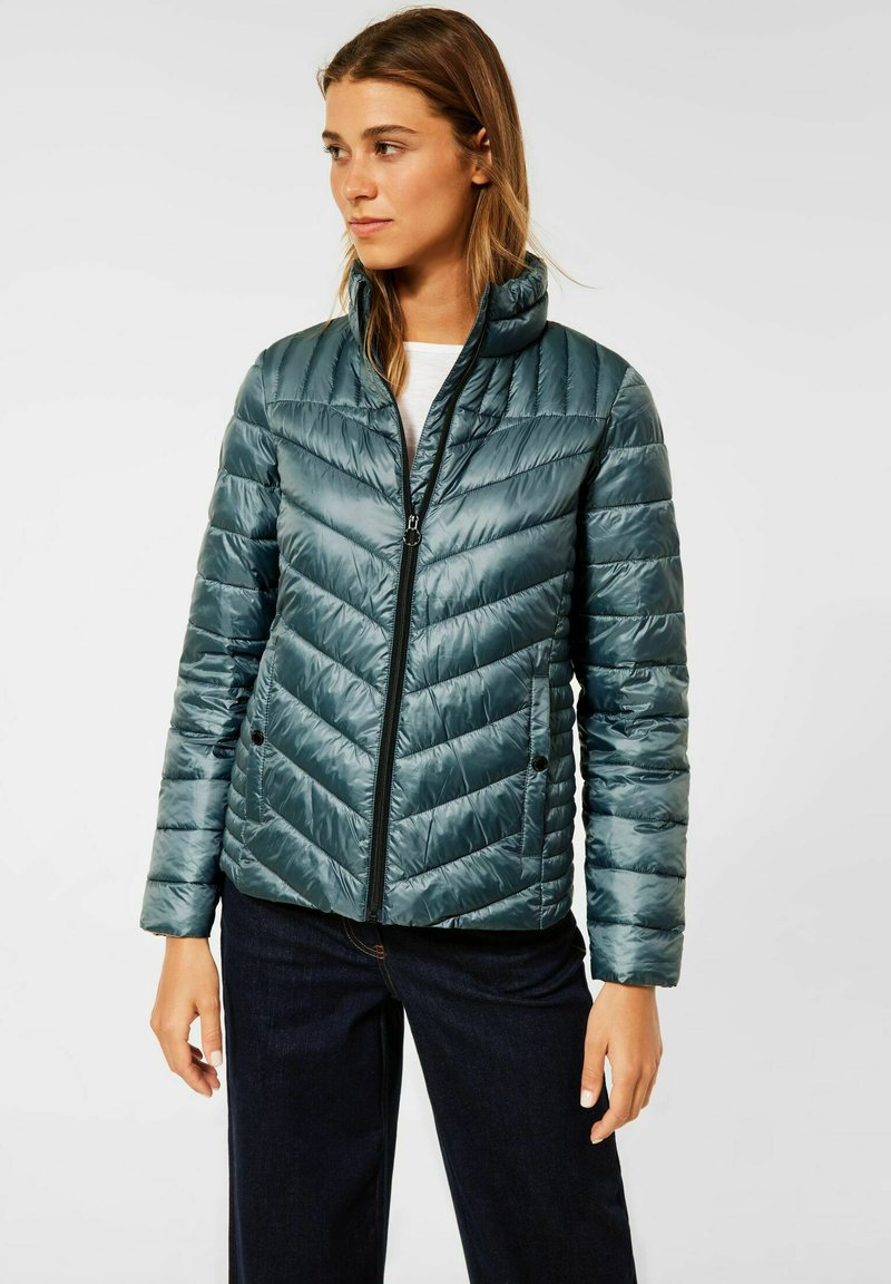 Cecil - IN STEPP OPTIK - Winter jacket - grün