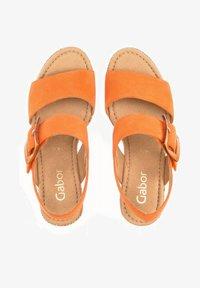 Gabor - Wedge sandals - orange - 0