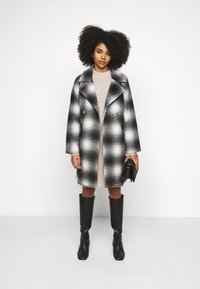 Pieces Petite - PCSIENA COAT - Classic coat - whitecap gray/brown/mole - 1