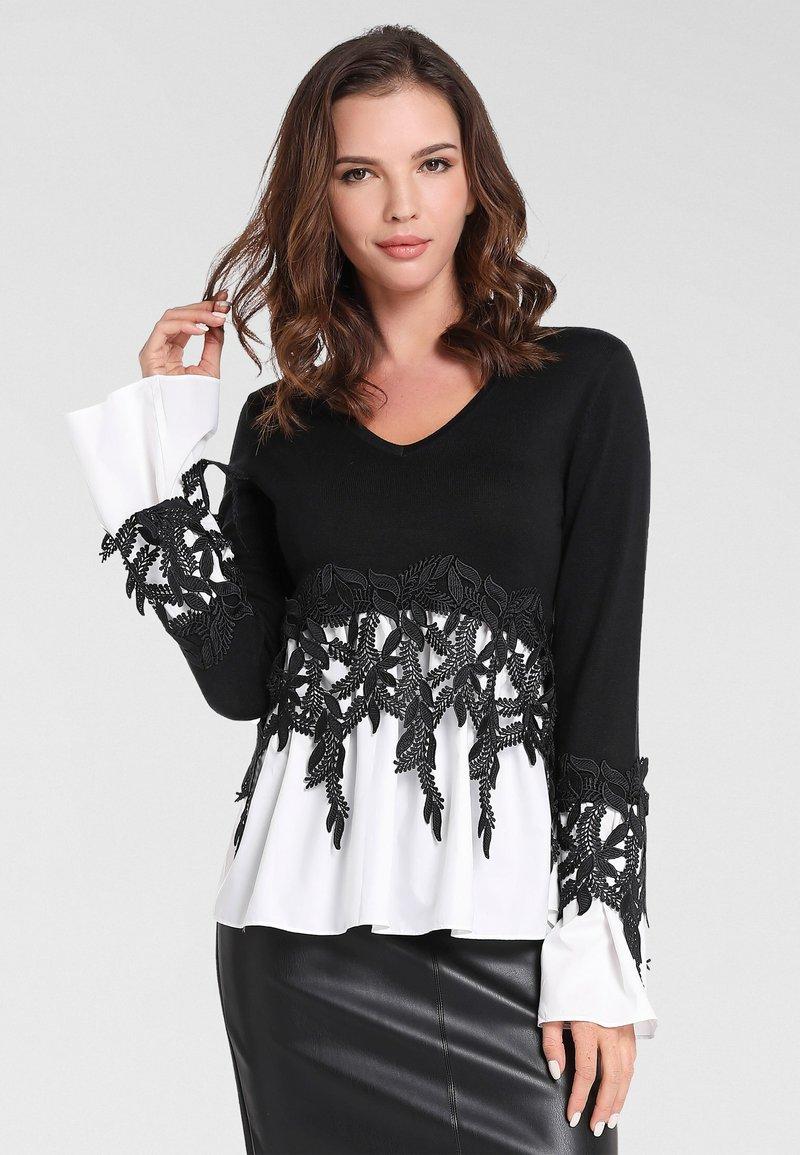 Apart - 2IN1 - Pullover - schwarz