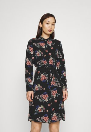 VMSAGA COLLAR DRESS  - Shirt dress - black/demi