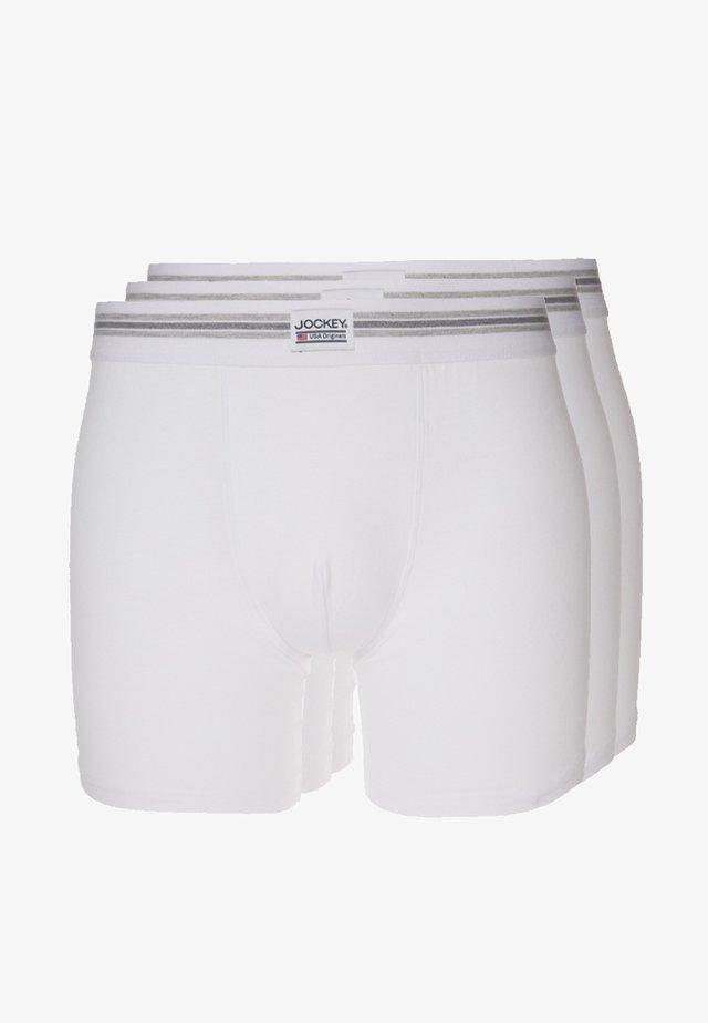 COTTON STRETCH LONG LEG TRUNK 3 PACK - Pants - white
