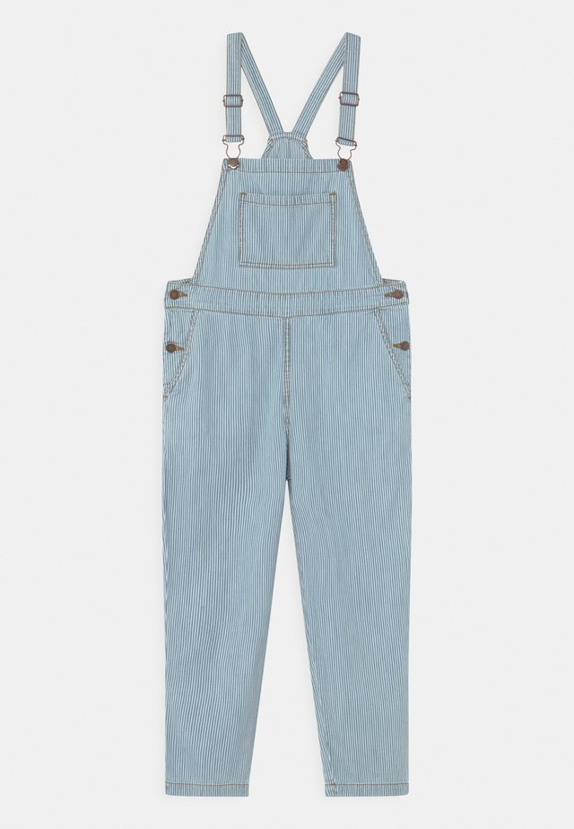 STRIPED DUNGAREE UNISEX - Snekkerbukse - blue